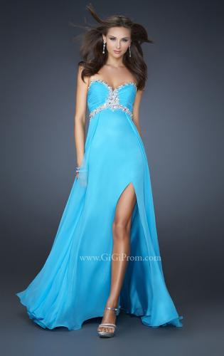 Picture of: Sweetheart Neckline Long Dress with Beading and Slit, Style: 17618, Main Picture