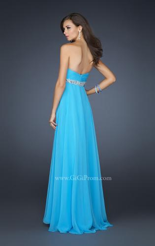 Picture of: Sweetheart Neckline Long Dress with Beading and Slit, Style: 17618, Back Picture