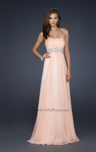 Picture of: Glam Long Prom Dress with Embellishments and Pleats, Style: 17656, Main Picture