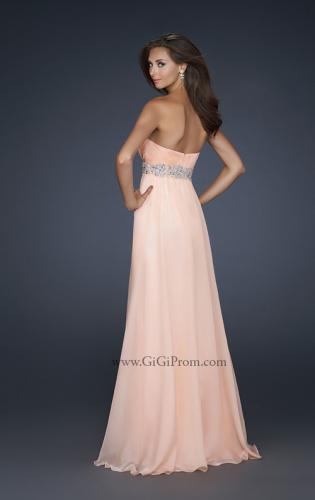 Picture of: Glam Long Prom Dress with Embellishments and Pleats, Style: 17656, Back Picture