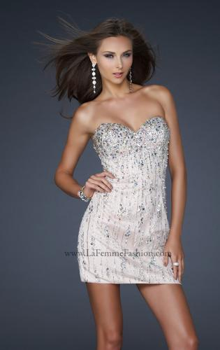 Picture of: Short Beaded Cocktail Dress with Sweetheart Neckline, Style: 17681, Detail Picture 1