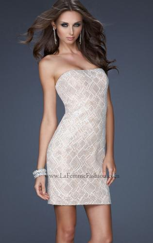 Picture of: Strapless Cocktail Dress with Intricate Detailed Beading, Style: 17759, Main Picture