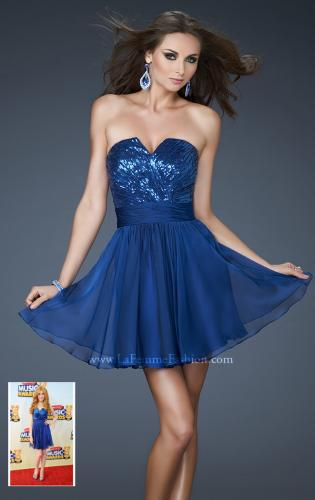 Picture of: Sequined Short Cocktail Dress with Full Chiffon Skirt, Style: 18162, Main Picture
