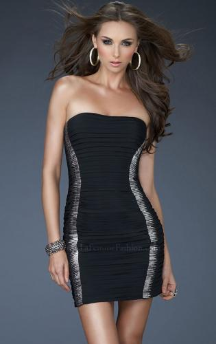 Picture of: Strapless Jersey Cocktail Dress with Ruched Body, Style: 18249, Main Picture