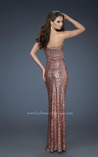 Picture of: Sequined Prom Gown with Sweetheart Neckline, Style: 18278, Back Picture