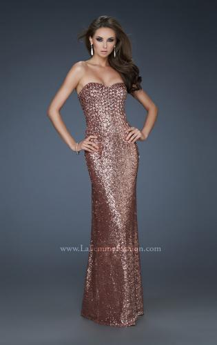 Picture of: Sequined Prom Gown with Sweetheart Neckline, Style: 18278, Detail Picture 1