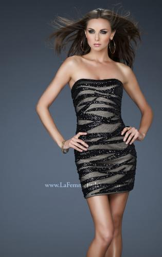 Picture of: Strapless Mini Dress with Sequins and Beading, Style: 18296, Main Picture
