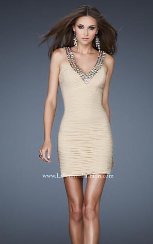 Picture of: Stretch Net Beaded Halter Neck Short Dress, Style: 18409, Main Picture