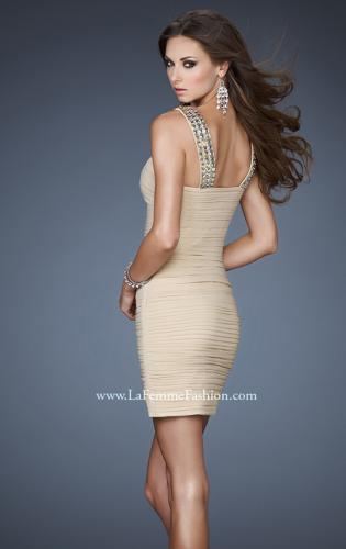 Picture of: Stretch Net Beaded Halter Neck Short Dress, Style: 18409, Back Picture