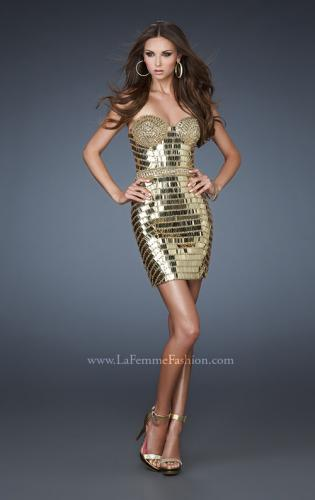 Picture of: Short Cocktail Dress with All Over Beading and Sequins, Style: 18413, Main Picture