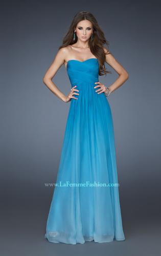 Picture of: Chiffon Prom Dress with Back Bow Detailing, Style: 18415, Main Picture