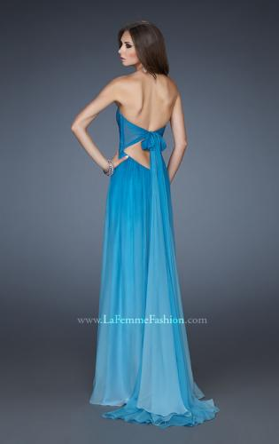 Picture of: Chiffon Prom Dress with Back Bow Detailing, Style: 18415, Back Picture