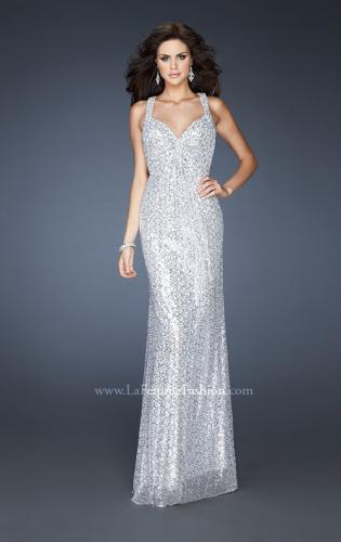 Picture of: Sequined Gown with Beaded Halter Neck and Diamond Back, Style: 18421, Detail Picture 1