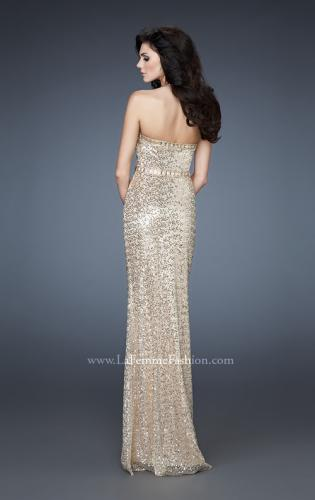 Picture of: Elegant Halter Top Sequined Long Prom Dress, Style: 18446, Back Picture