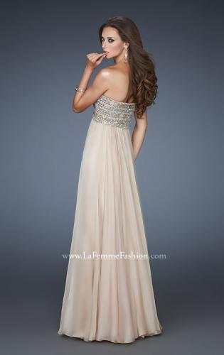 Picture of: Empire Waist Chiffon Prom Dress with Sequins and Beads, Style: 18447, Back Picture
