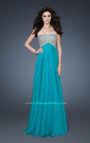 Picture of: Empire Waist Chiffon Prom Dress with Sequins and Beads, Style: 18447, Detail Picture 1