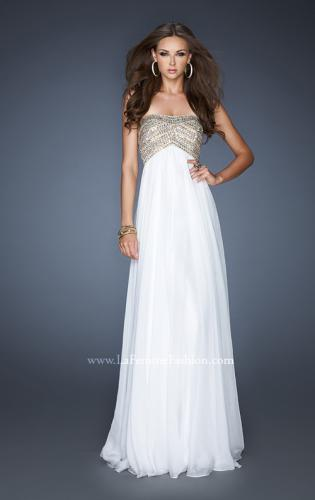 Picture of: Empire Waist Chiffon Prom Dress with Sequins and Beads, Style: 18447, Detail Picture 2