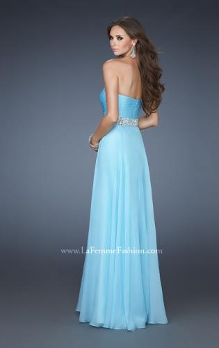 Picture of: Sweetheart Neckline Chiffon Gown with Rhinestone Belt, Style: 18471, Back Picture