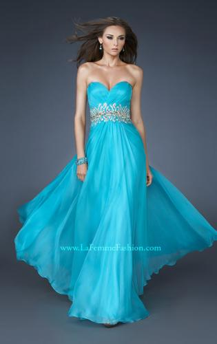 Picture of: A-line Long Prom Dress with Iridescent Stones, Style: 18482, Main Picture