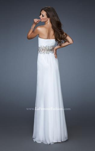 Picture of: A-line Long Prom Dress with Iridescent Stones, Style: 18482, Back Picture
