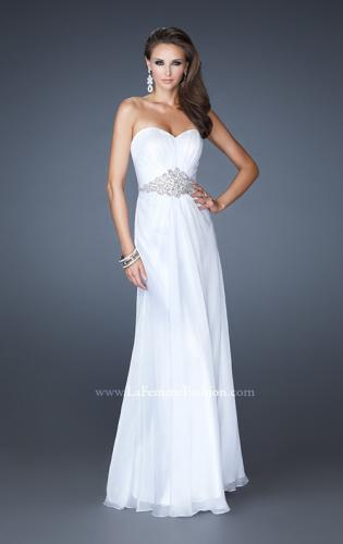 Picture of: Elegant Prom Gown with Beaded and Rhinestone Waist, Style: 18485, Main Picture