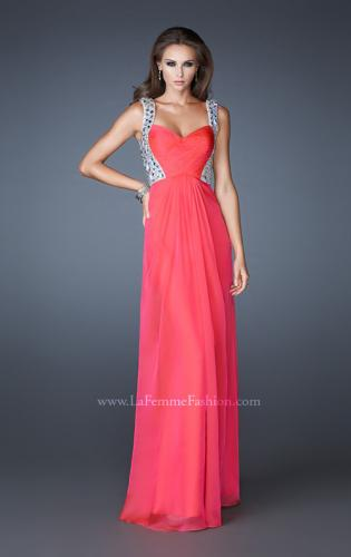 Picture of: Sophisticated Dress with Criss Cross Bodice and Rhinestones, Style: 18487, Main Picture
