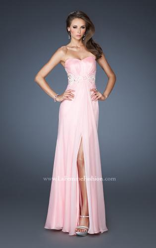 Picture of: Embellished Empire Waist Prom Dress with Lace, Style: 18494, Main Picture
