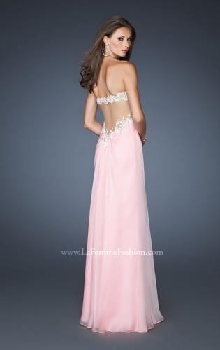 Picture of: Embellished Empire Waist Prom Dress with Lace, Style: 18494, Back Picture