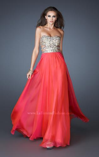 Picture of: Stone Embellished Prom Dress with Sequins and Cut Outs, Style: 18602, Detail Picture 2