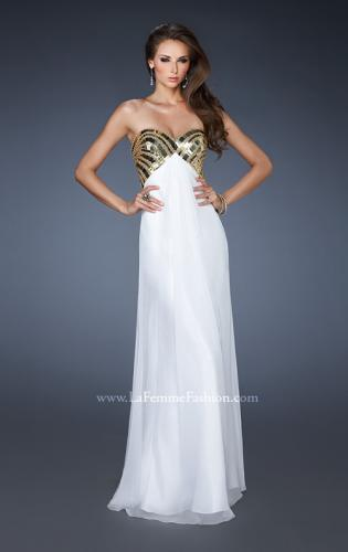 Picture of: Empire Waist Chiffon Prom Dress with Embellished Straps, Style: 18608, Main Picture