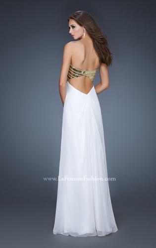 Picture of: Empire Waist Chiffon Prom Dress with Embellished Straps, Style: 18608, Back Picture