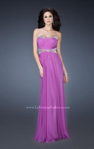 Picture of: Classic Chiffon Prom Dress with Beaded Neckline and Waist, Style: 18611, Detail Picture 1