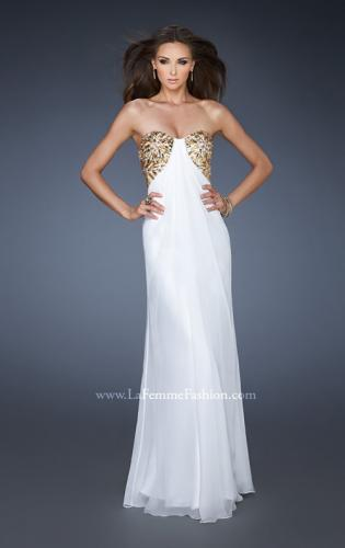 Picture of: Strapless Sweetheart Prom Dress with Front Slit and Beads, Style: 18617, Main Picture