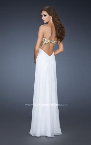 Picture of: Strapless Sweetheart Prom Dress with Front Slit and Beads, Style: 18617, Back Picture