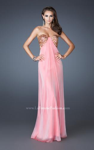 Picture of: Strapless Sweetheart Prom Dress with Front Slit and Beads, Style: 18617, Detail Picture 1