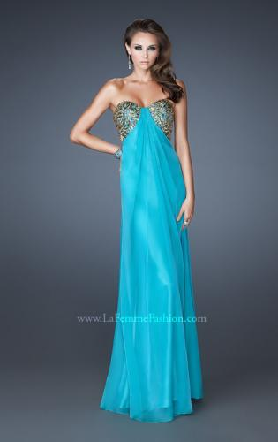 Picture of: Strapless Sweetheart Prom Dress with Front Slit and Beads, Style: 18617, Detail Picture 2