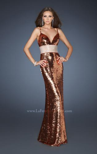 Picture of: Empire Waist All Over Sequined Long Prom Dress, Style: 18620, Main Picture
