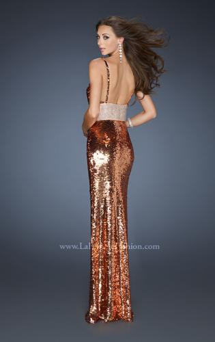 Picture of: Empire Waist All Over Sequined Long Prom Dress, Style: 18620, Back Picture