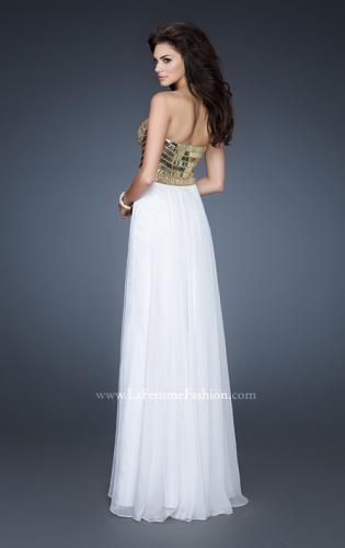 Picture of: Beaded Bodice Long Prom Dress with Sweetheart Neck, Style: 18626, Back Picture