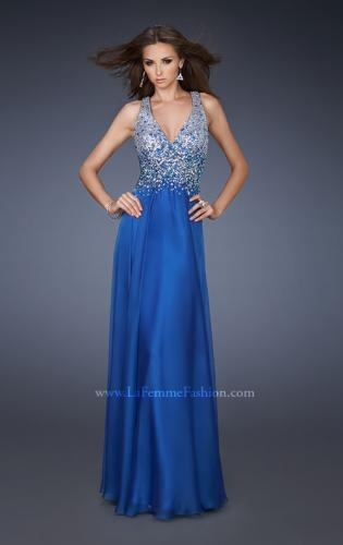 Picture of: V Neck Long Prom Dress with Fully Embellished Bodice, Style: 18631, Detail Picture 2