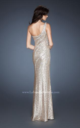 Picture of: One Shoulder Fully Sequined Long Prom Gown, Style: 18634, Back Picture