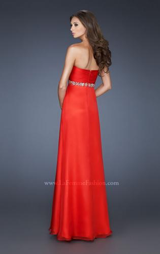 Picture of: Empire Waist Chiffon Dress with Ruched Neckline, Style: 18715, Back Picture
