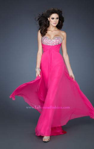 Picture of: A-line Empire Waist Prom Dress with Jeweled Bodice, Style: 18786, Main Picture