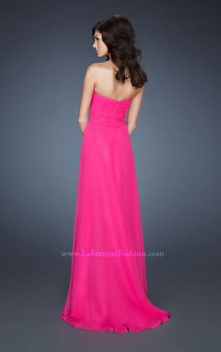 Picture of: A-line Empire Waist Prom Dress with Jeweled Bodice, Style: 18786, Back Picture