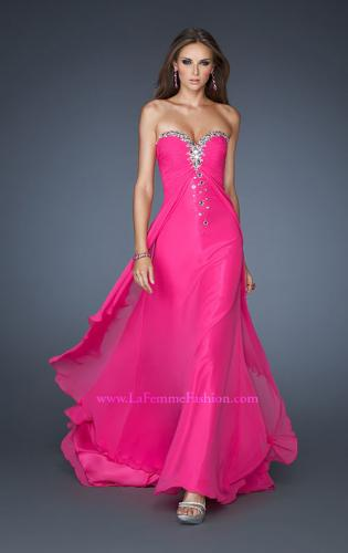 Picture of: Long Prom Dress with Rhinestones and Layered Skirt, Style: 18856, Main Picture