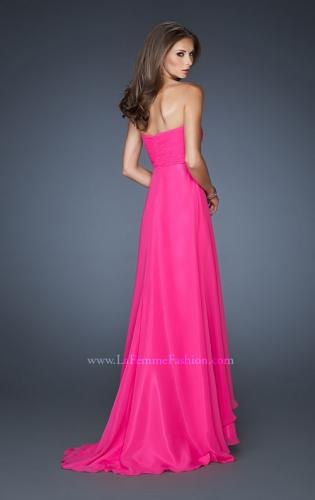 Picture of: Long Prom Dress with Rhinestones and Layered Skirt, Style: 18856, Back Picture