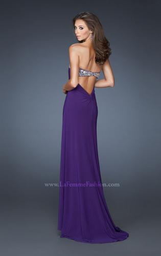 Picture of: Strapless Jersey Prom Dress with Embellished Trim, Style: 18916, Back Picture