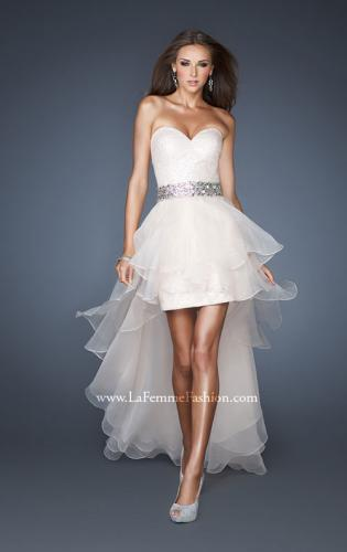 Picture of: Strapless Sequin Prom Dress with Detachable High Low Skirt, Style: 18955, Main Picture