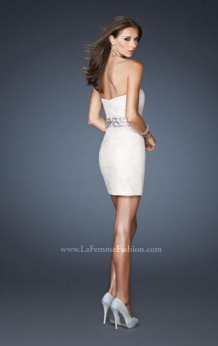 Picture of: Strapless Sequin Prom Dress with Detachable High Low Skirt, Style: 18955, Back Picture