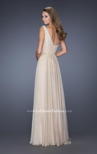 Picture of: One Shoulder Chiffon Prom Dress with Embellished Lace Bodice, Style: 19162, Back Picture